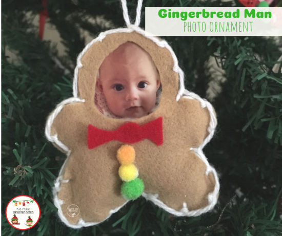 Gingerbread Man Photo Ornament