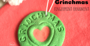 Grinchmas Fingerprint Ornament