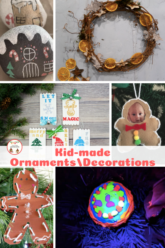 Kid-made ornaments pin