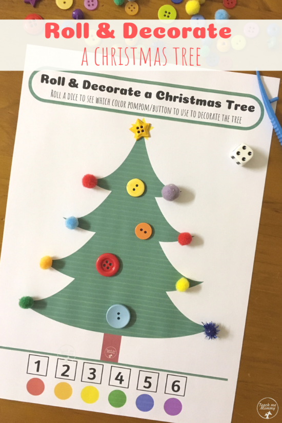 Roll Christmas tree pin
