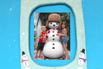 Snowman Fingerprint Photo Frame
