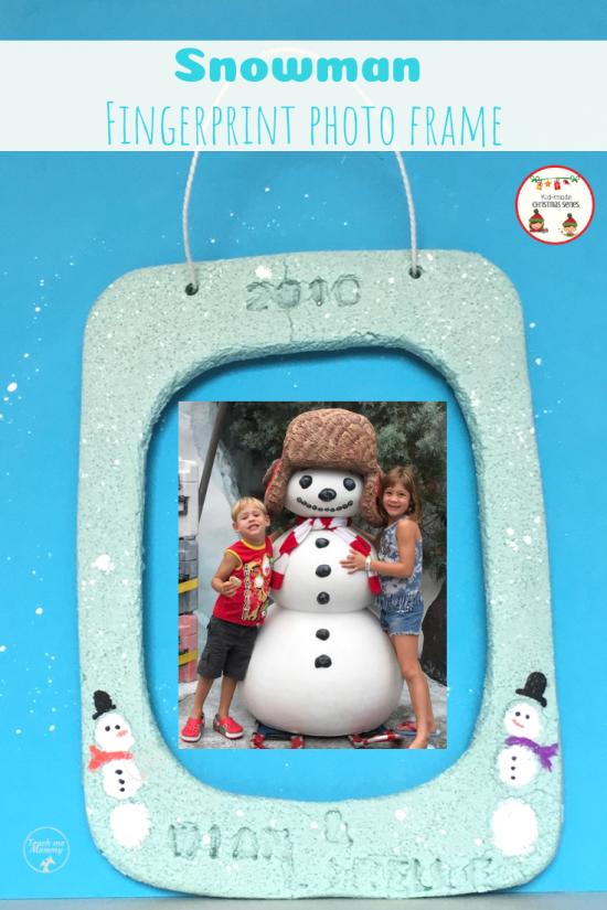 Snowman frame pin