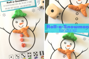Roll-a-Snowman Playdough Mat