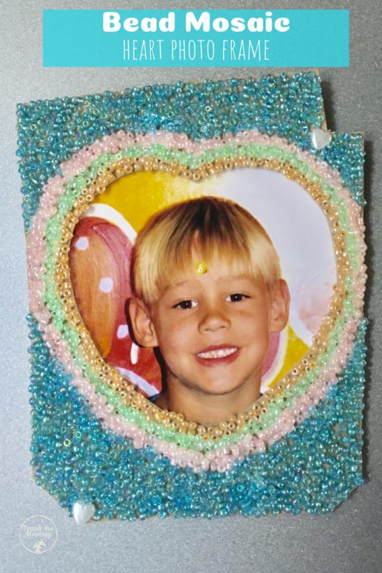 Mommy Frames: Bead Mosaic Frame