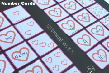 Heart Numbers Cards