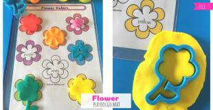 Flower Playdough Mat