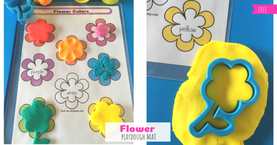 Flower Playdough Mat