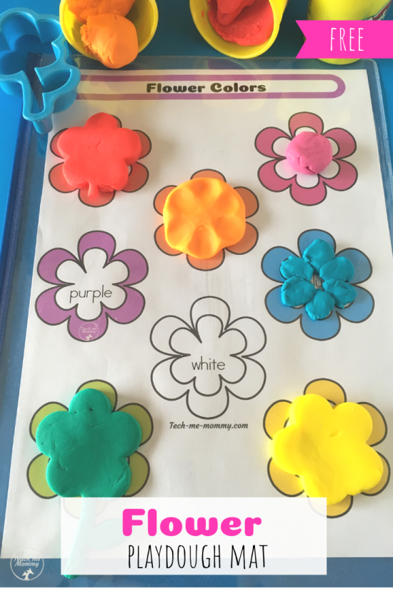 Flowers mat pin