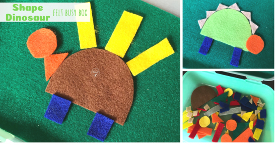 Shape Dinosaur Felt Busy Box