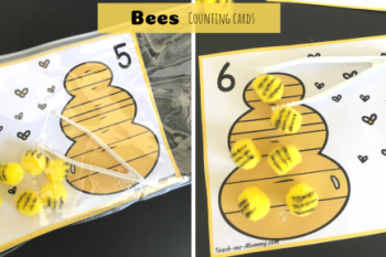 Bee Counting Cards