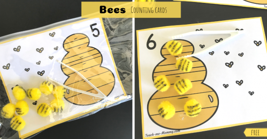 Bees Counting Cards fb