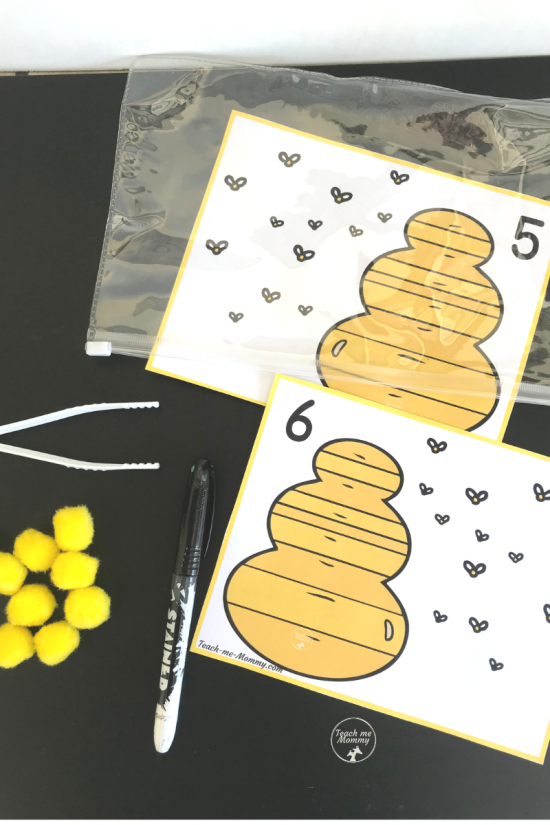 Bees Counting cards1