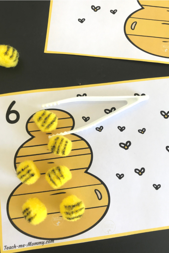 Bee Counting cards3