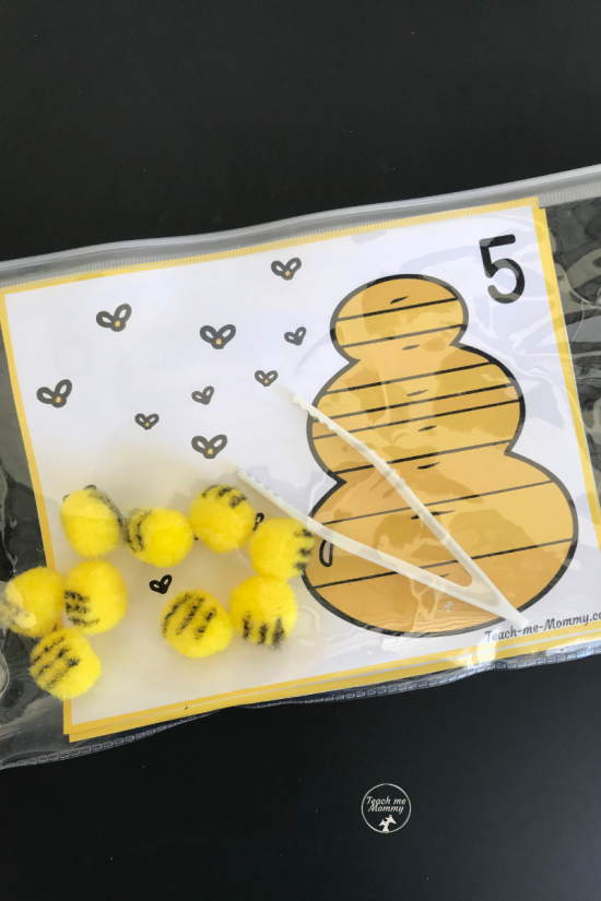 Bees Counting cards4