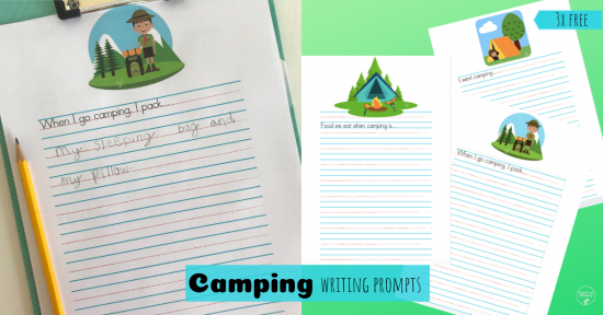 Camping writing prompts fb