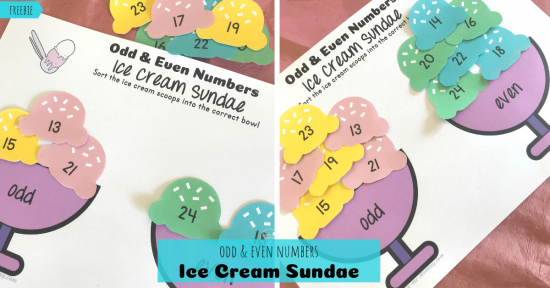 Ice Cream Sundae Odd & Even Numbers