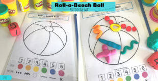 Roll-a-Beach Ball Playdough Mat