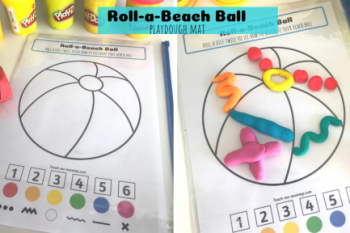 Roll-a-Beach Ball Playdough Mat