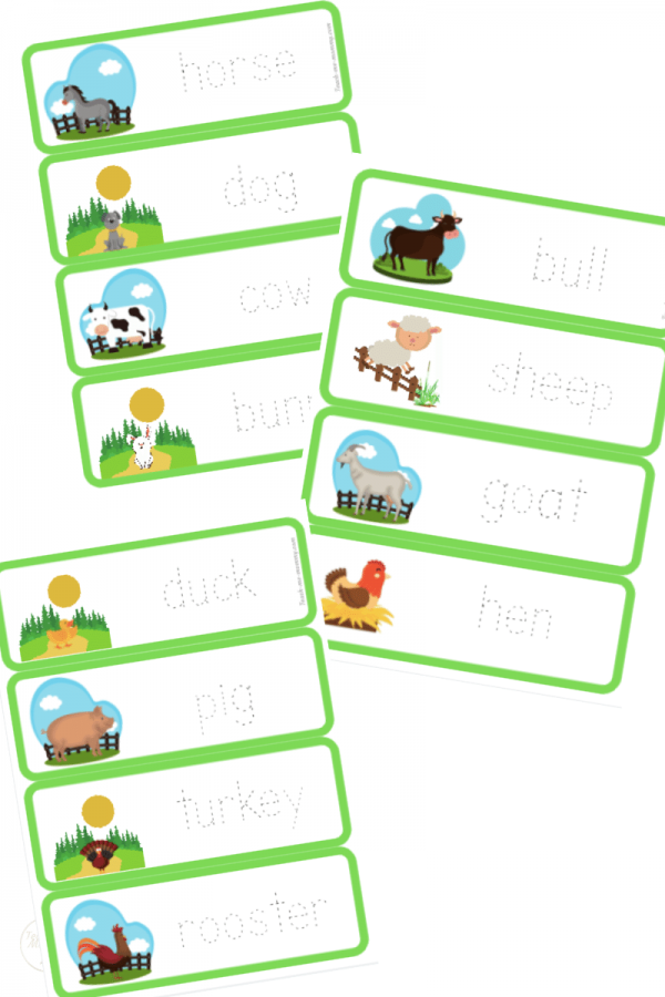 Farm animals collage