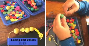 Lacing & Color Busy Box