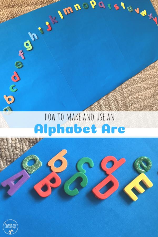 Alphabet Arc pin