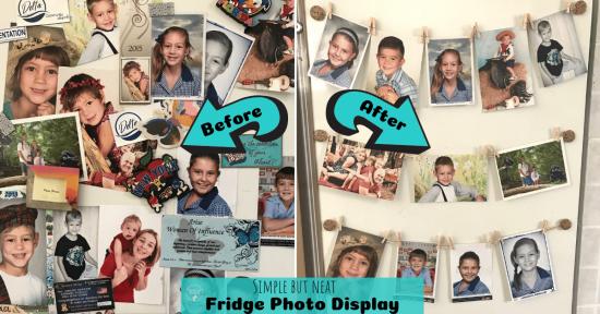 Fridge Photo Display