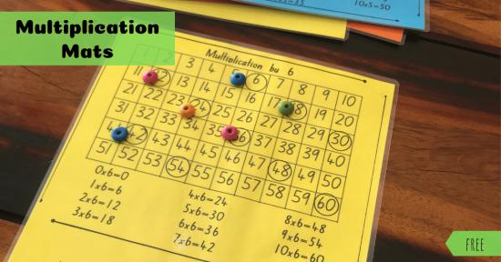 Multiplication mats fb