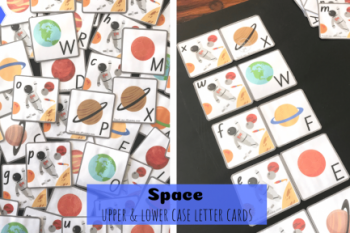 Space Upper Lower Case Letters Cards