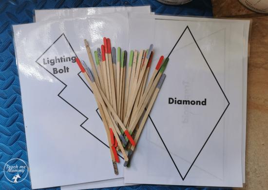 DIY Colored Sticks 1