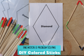 DIY Colored Sticks