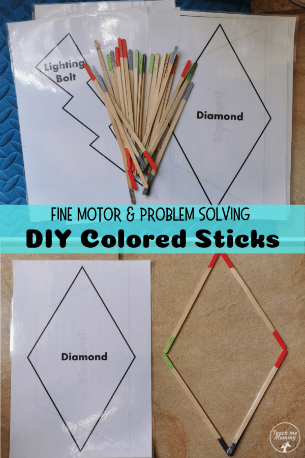 DIY Colored Sticks pin