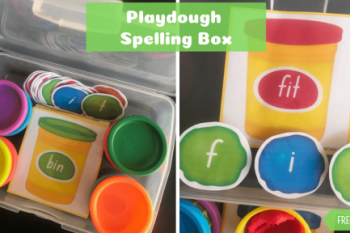 Playdough Spelling Busy Box