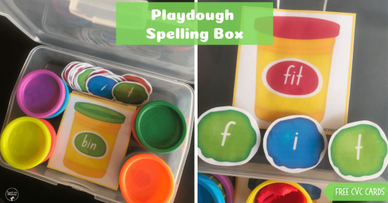 Playdough Spelling box fb