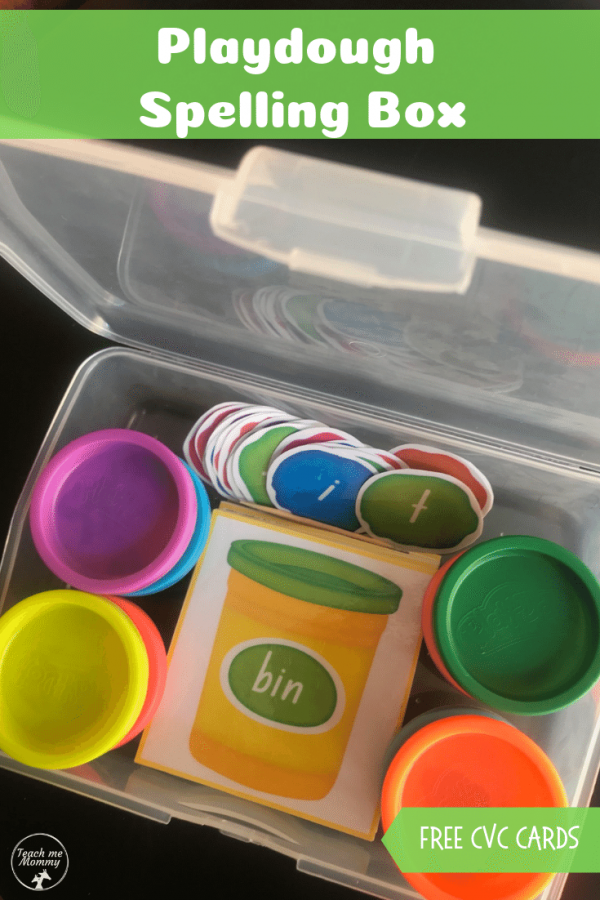 Playdough Spelling box pin