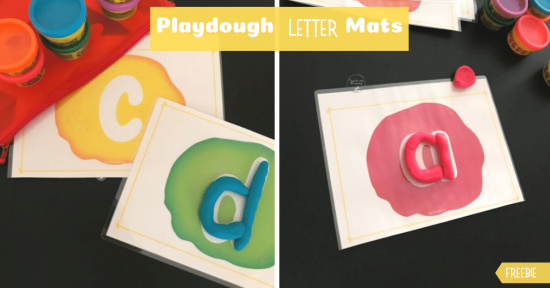 Playdough letter mat fb