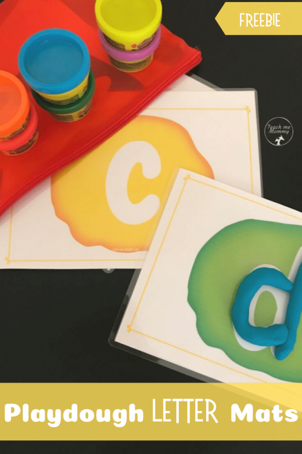 Playdough letter mat pin