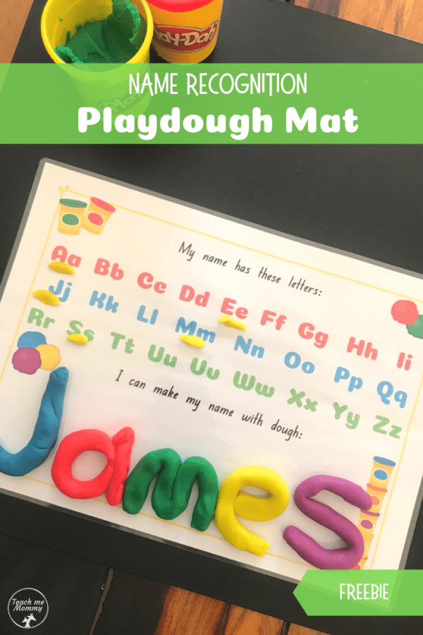 Playdough name mat pin