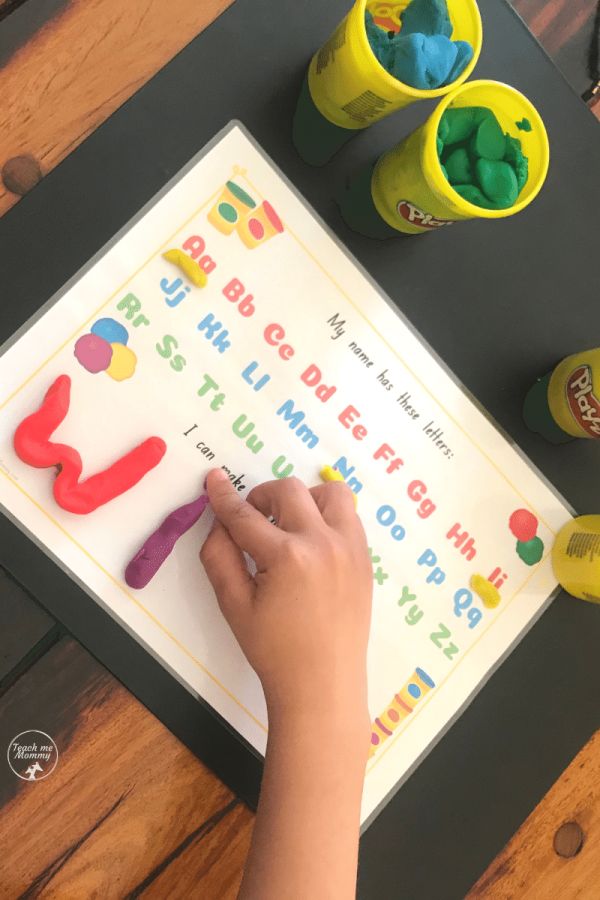 Playdough name mat2
