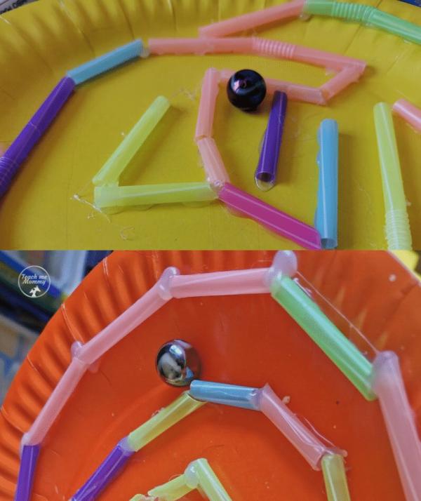 DIY straw maze 1