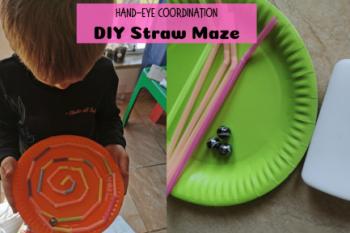 DIY Straw Maze