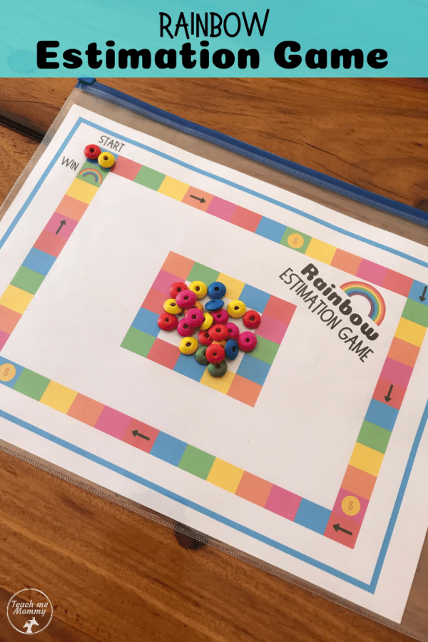 Rainbow Estimation game pin