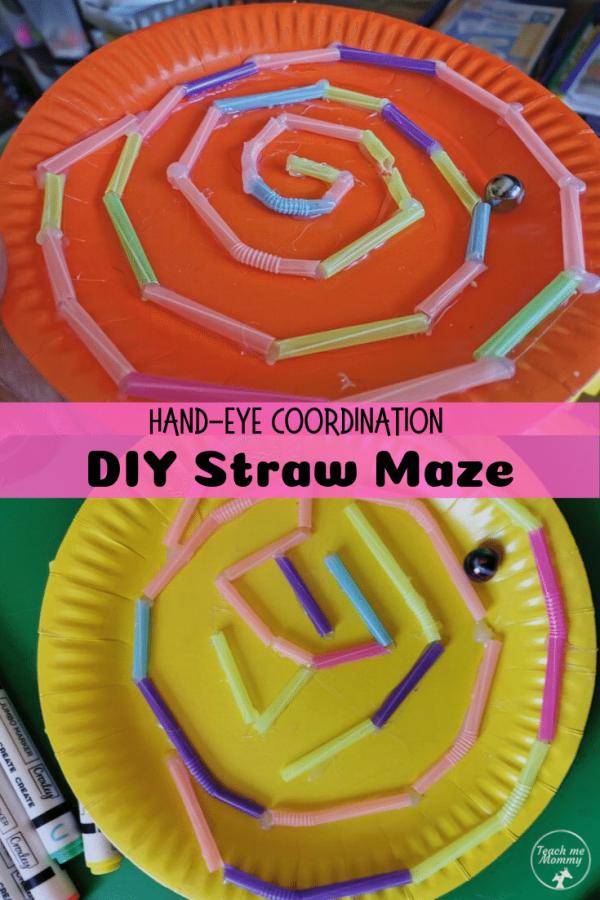 diy straw maze pin