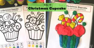 Roll-a-Christmas Cupcake