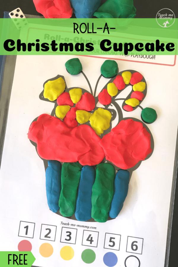 Christmas cupcake pin