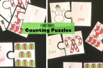 Christmas Counting Puzzles