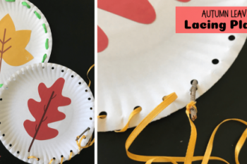 Autumn Leaves Lacing Plates