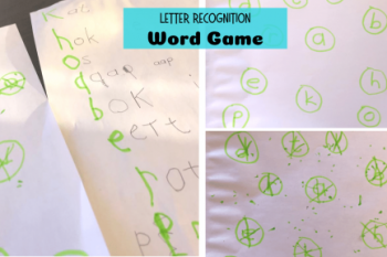 Letter Recognition Word Game