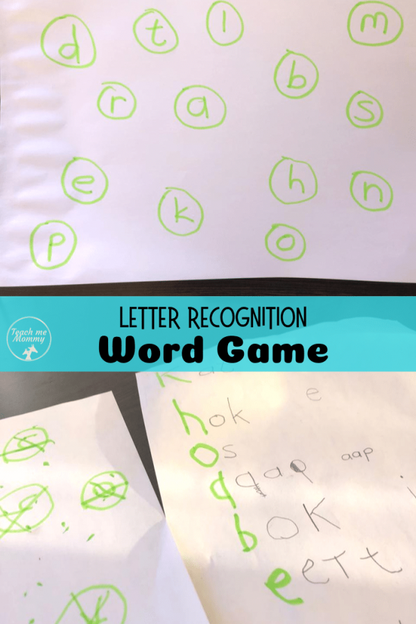Letter Recognition game pin