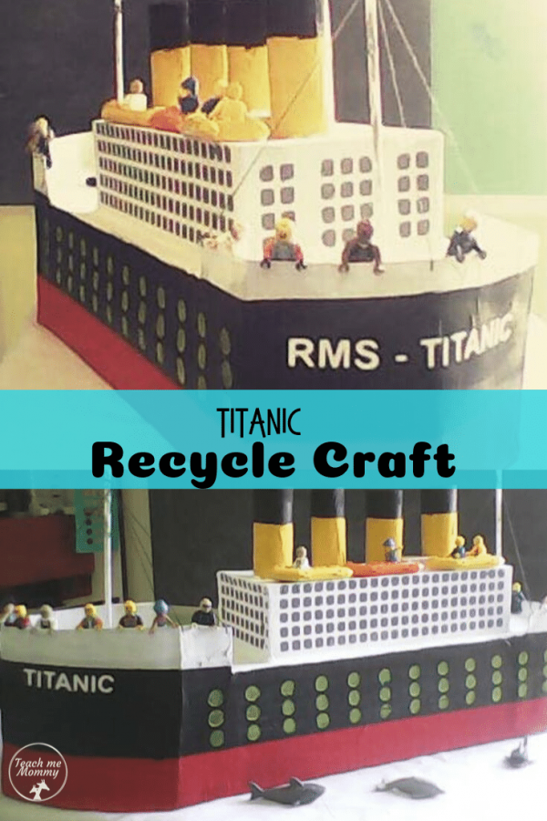 Titanic Recycle Craft pin