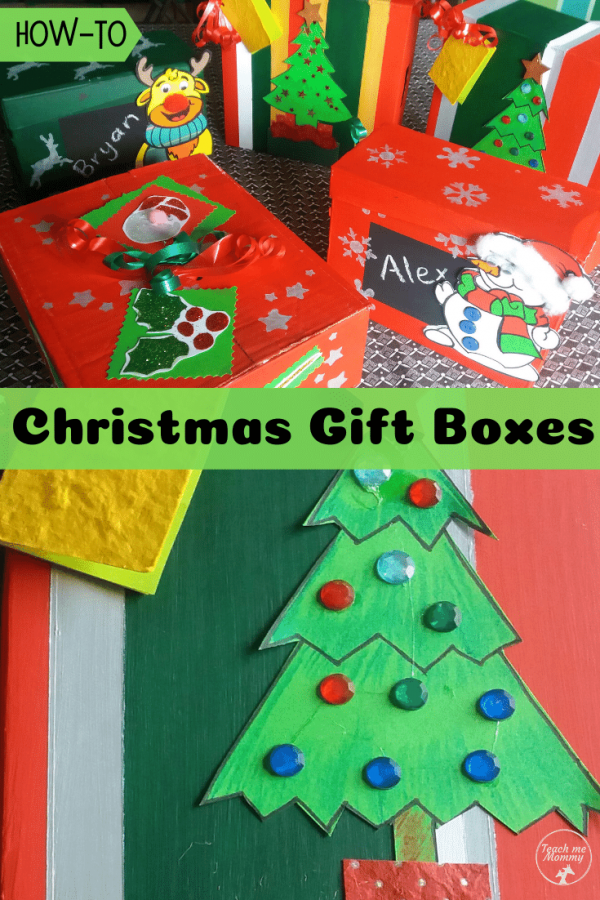 Christmas gift boxes pin